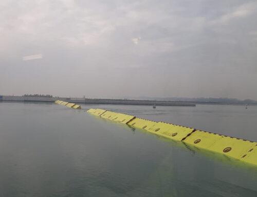 Visibili sul sito i sollevamenti delle barriere